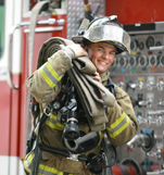 CC Fire Science graduate on the job