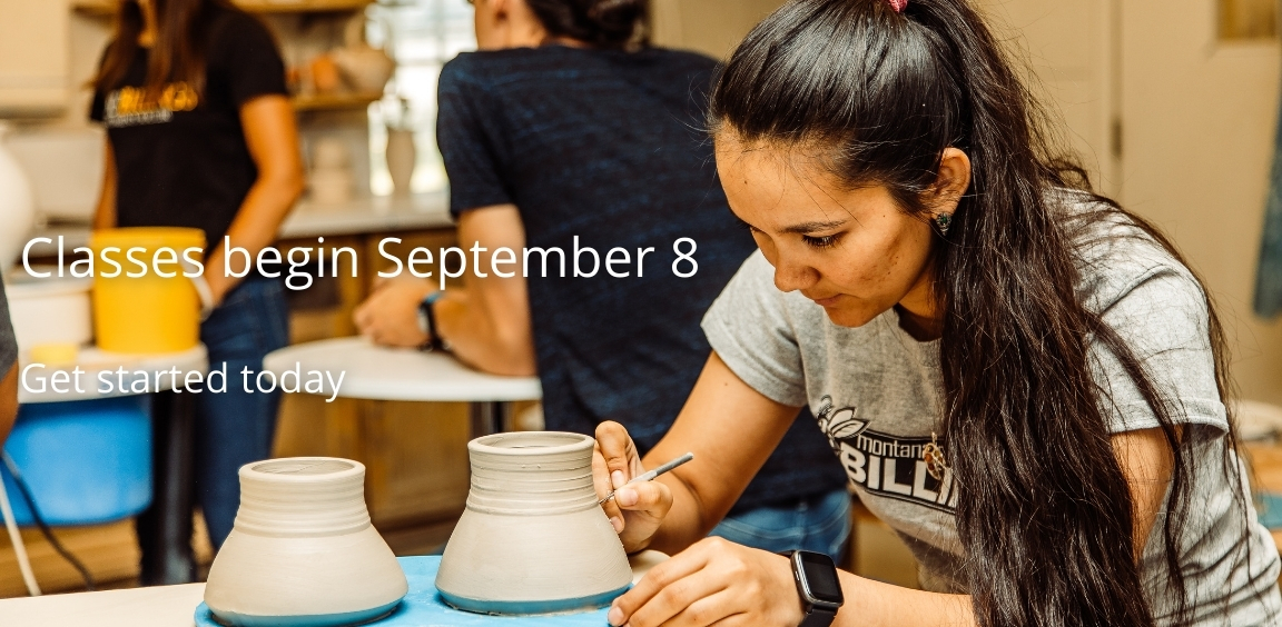 Classes being September 8. Get started today.
