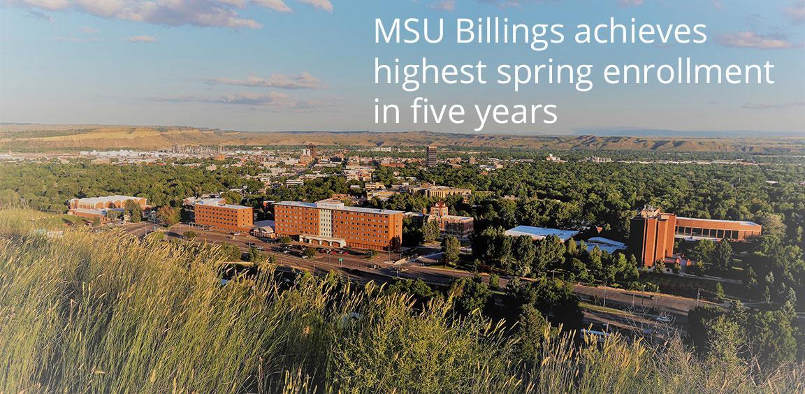 MSU Billings achieves highest spring enrollment in five years