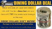 Dining Dollar Deal