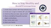 How to Stay Healthy and Avoid Coronavirus