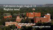 Fall Classes begin August 19