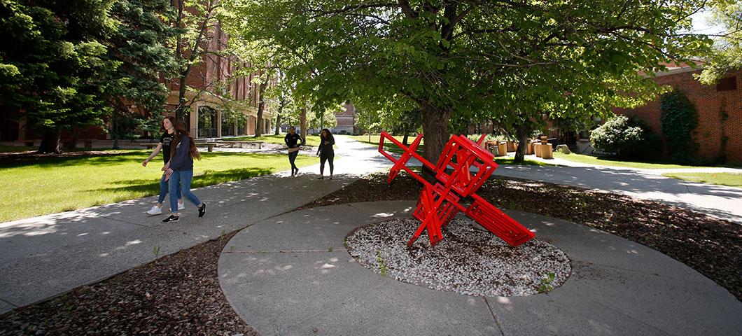 Public art on the university campus