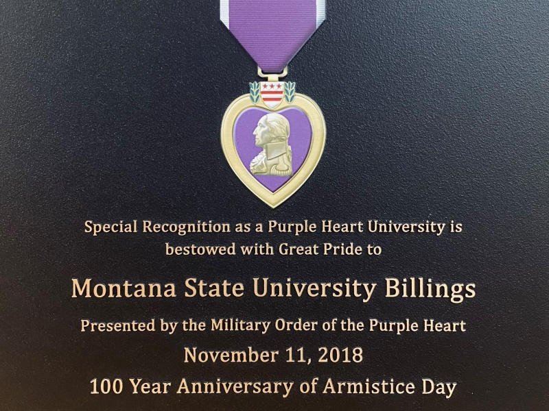 This designation recognizes that MSUB actively supports combat-wounded veterans and implements that steadfast support of the military and veterans on campus.