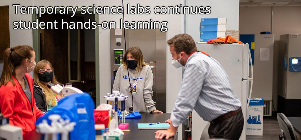 Temporary science labs continues student hands-on learning