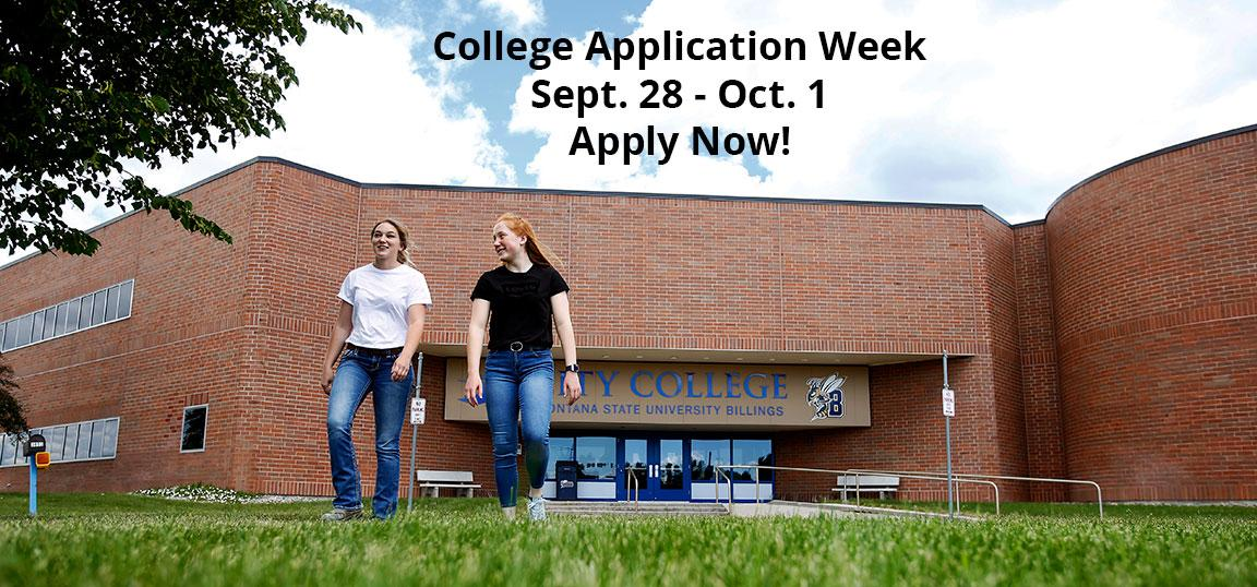 College Application Week Sept. 28-Oct. 1. Apply now!