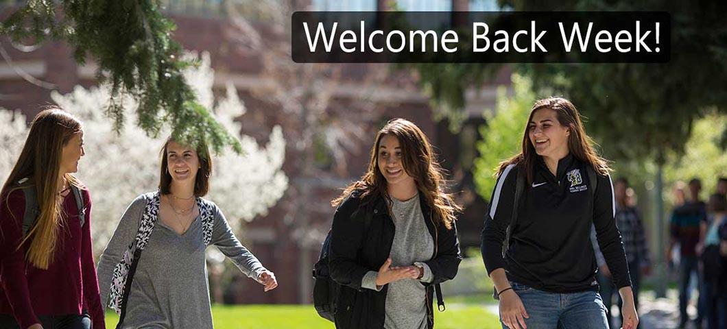 Welcome Back Week!