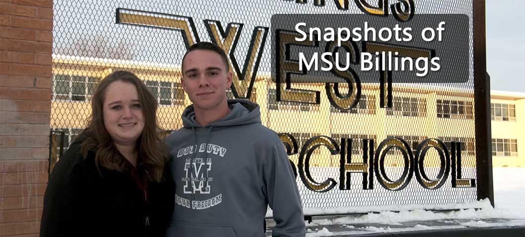Snapshots of MSU Billings: Katie and Conner Meron