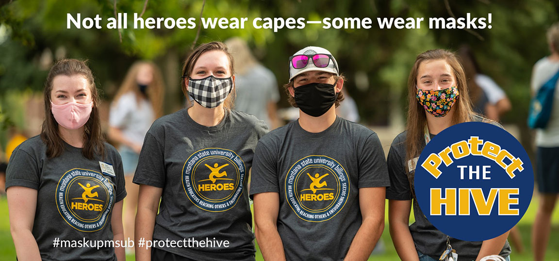 Not all heroes wear capes - some wear masks. Protect the Hive. #maskupmsub #protectthehive