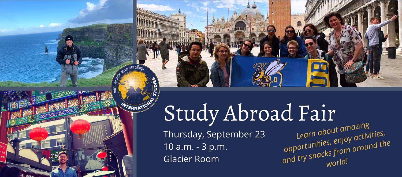 MSUB Study Abroad photos & fair details