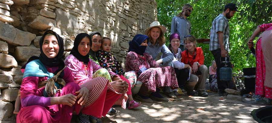 Students enjoying local culture