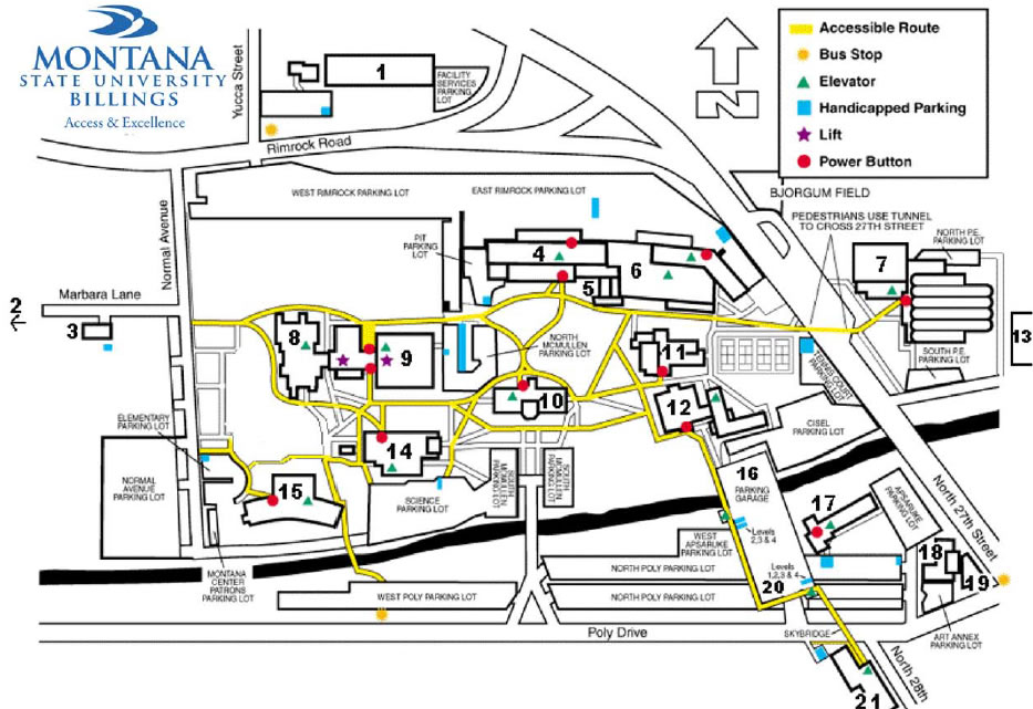 Campus Maps and Buildings MSU Billings