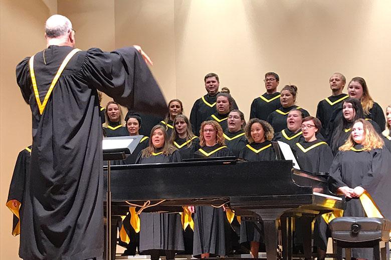 MSUB Choir performance