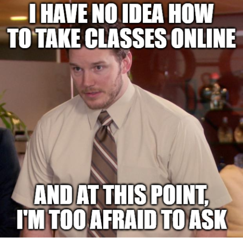 I have no idea how to take classes online and at this point I'm too afraid to ask