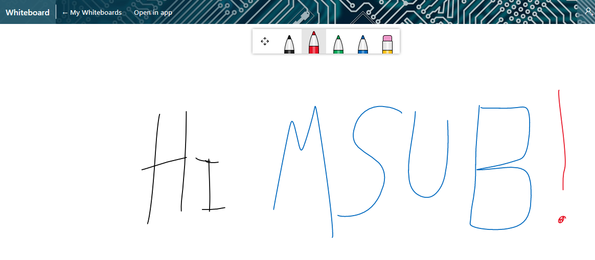 Microsoft Whiteboard Screenshot