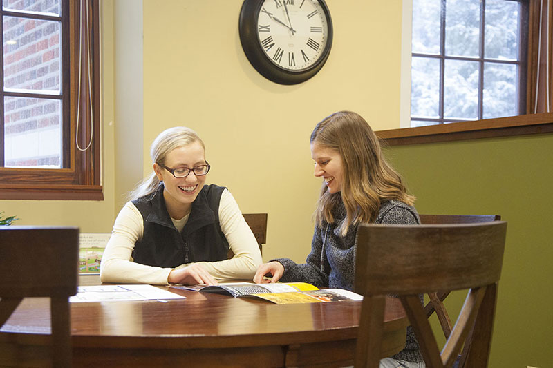 a MSUB student and her admissions advisor