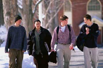 graduate students on campus