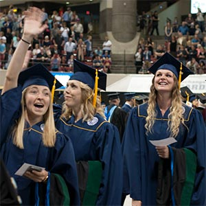 graduating MSUB students at commencement