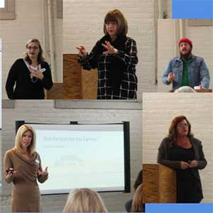 photo collage of speakers at the suicide lecture series