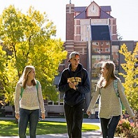 Students by McMullen Hall
