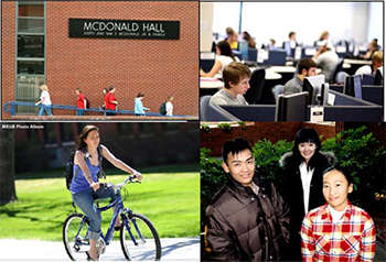 photo collage of international students at MSUB