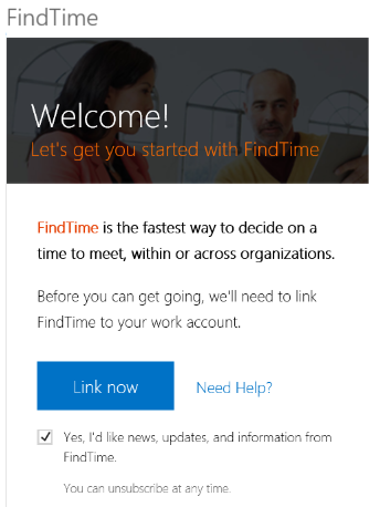 Link the app to your office 365 account