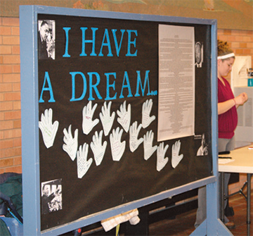 I have a Dream display on the MSUB University campus