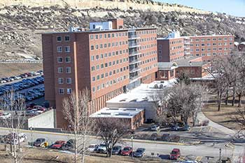Petro Hall and Rimrock Hall on the MSUB university campus