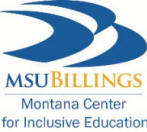 MSU Billings Logo for Montana Center for Inclusive Education