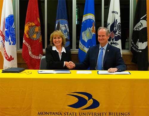 Chancellor Dan Edelman and Montana Adjutant General, MG Quinn