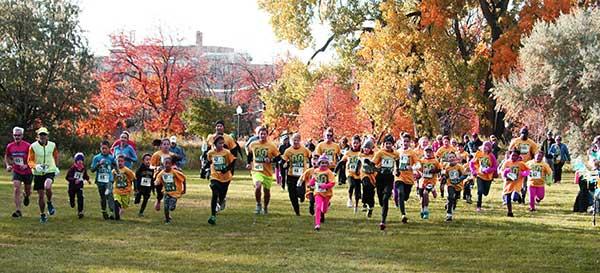 MSUB Mile runners