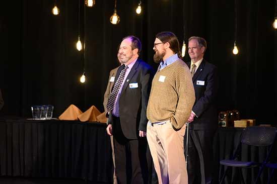 Tom Rust, Matt Queen and Chancellor Edelman