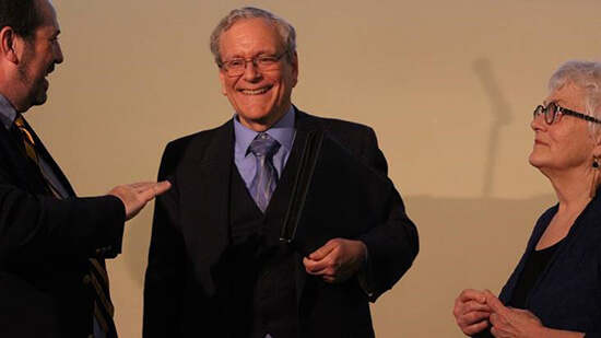 Dr. Scott Harris receives GNAC SAAC Faculty Mentor Award