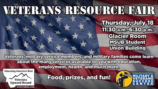 Veterans Resource Fair Thursday, July 18 at 11 am