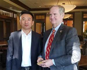 Chancellor Edelman and Honghai Chen