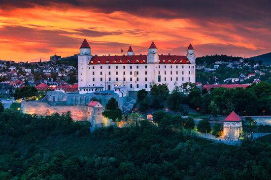 Photo of Slovakia castle at sunset